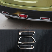 For Suzuki SX4 S-Cross 2014 2015 2016 2017 2018 ABS Chrome Rear Fog Light  Cover Trim Car styling Accessories 3pcs