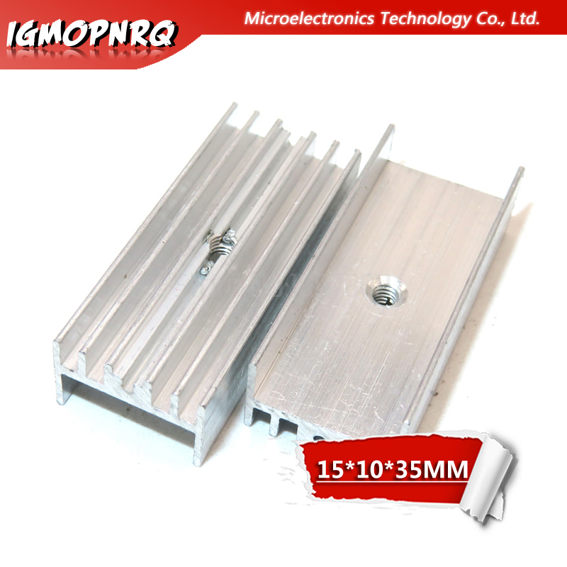 10pcs Transistor 15*10*35mm For Transistors TO 220 Aluminum Heatsink Radiator With hjxrhgal TO220 white-in Integrated Circuits from Electronic Components & Supplies