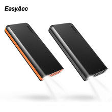Portable 26000mAh Powerbank,Easyacc 26000mah 4 Ports USB 18650 External Battery Charger with Flashlights Fast speed Power banks(China)