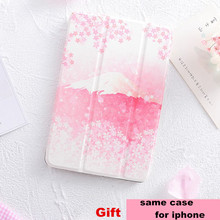 Pink Sakura Mini4 Magnet Flip Cover For iPad Pro 9.7″ 10.5 Air Air2 Mini 1 2 3 4 Tablet Case Cover for New ipad 9.7 2017