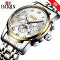 HAIQIN мужские часы автоматические механические Роскошные бизнес Moon <font><b>Phase</b></font> часы водонепроницаемые полностью Стальные наручные часы Мужские часы...