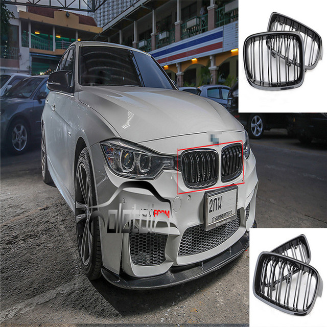 Grille For Bmw F30 Grill M Style Kidney Black Replacement Grille For