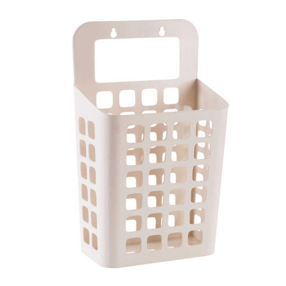 Multi-Propósito Ventilado Bege Roupas Penduradas Organizador Armário de Lavanderia Cesta De Armazenamento De Plástico para Casa de Banho Quarto Sala de estar