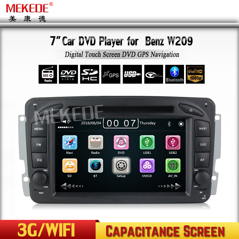 Free shipping font b multimedia b font for Car DVD Player For Benz CLK W209 W203