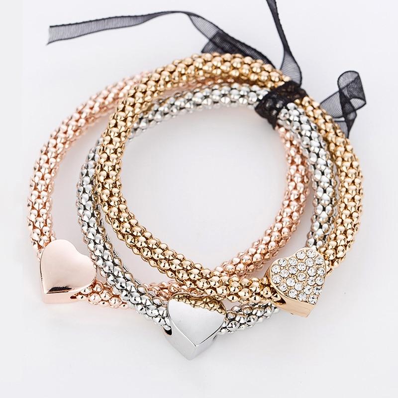 Strass charme armbänder & armreifen für frauen rose gold / silber - Modeschmuck - Foto 4