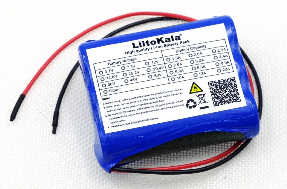 Liitokala nuevo 12 V 2600 mAh batería de iones de litio Monitores CCTV Cámara batería 12.6 V a 11.1 V 18650 energía de reserva