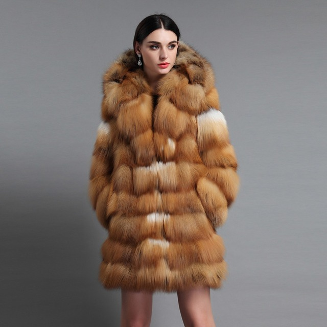 Aliexpress.com : Buy Fur Story 16192B Red Fox Women's Real Fox Fur ...