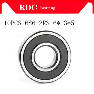 10PCS ABEC-5 686 2RS 686RS 686-2RS 686 RS L1360 6x13x5 mm 6*13*5mm double Rubber seal High quality Deep Groove Ball Bearing(China)
