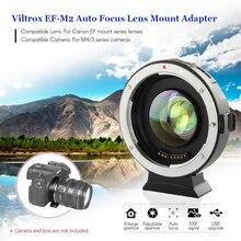 INSEESI VILTROX EF-M2 autofokuslinsmonterad adapter 0.71X för Canon EOS EF-objektiv till Micro Four Thirds (MTF, M4 / 3) -kamera