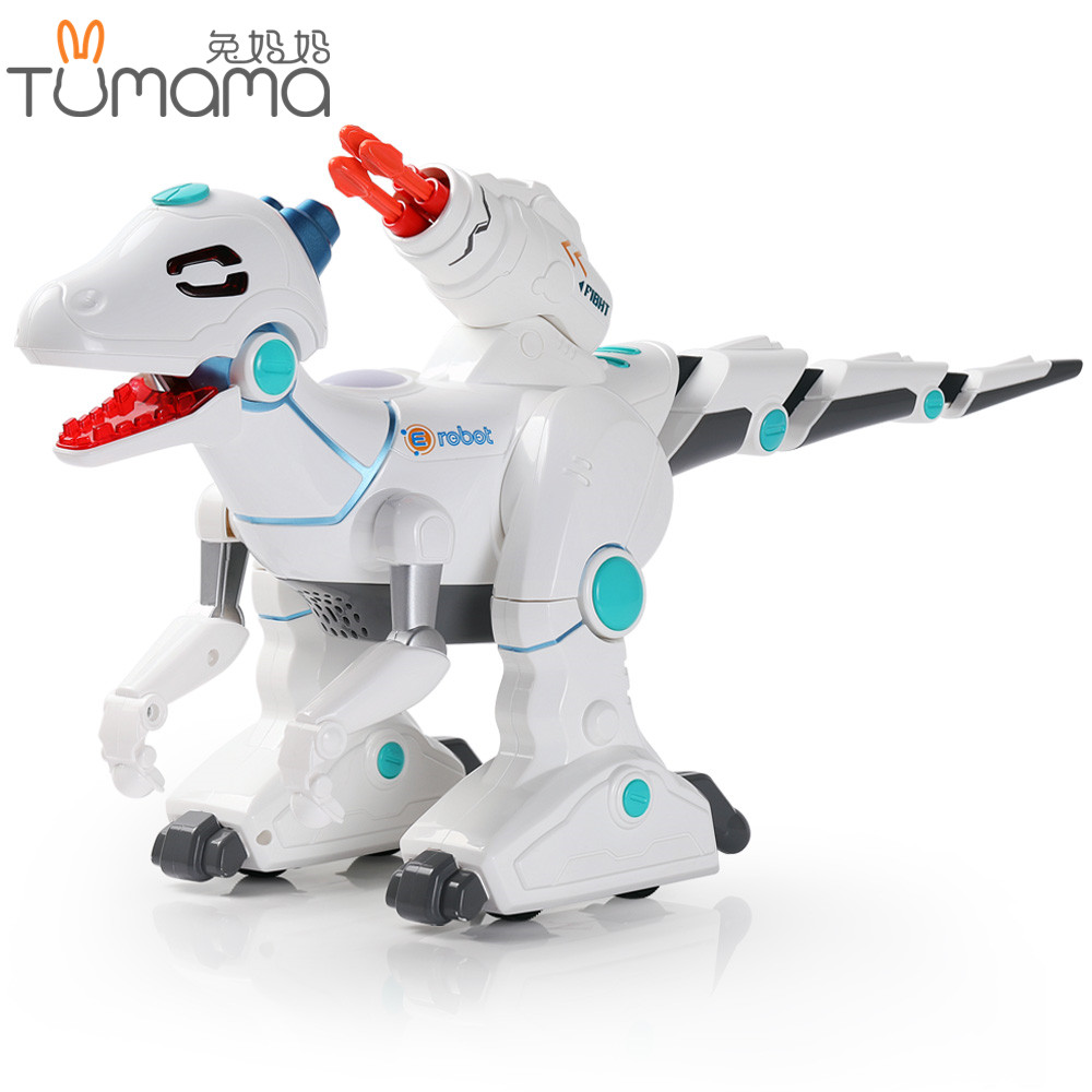 RC Toys Animals Dinosaur 2.4G Remote Control Toys Smart Dinosaur Dancing Walking Shooting Learning Robot Educational Kids Toy