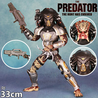 2018 Movie Ultimate Fugitive Predator 33CM Action Figure HOT Toys HC Large Doll Model Scarface Mask F/ NECA 12 Collectible Toys