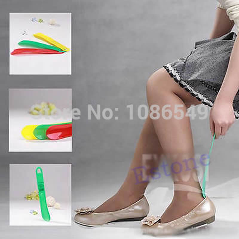 Plastic Flexible Shoe Remover Aid Slip Horn Easy Reach Handle Shoehorn vinguru kia sportage 2010 4