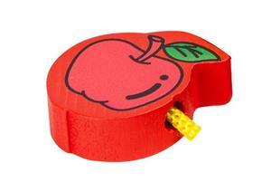 Image 4 - 26個木のおもちゃ赤ちゃんdiyのおもちゃの漫画フルーツ動物糸スレッディング木製のビーズのおもちゃmonterssori子供のための教育gyh