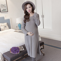 Korean Version Of Pregnant Women Sweater Jacket Korean Loose Long Knit Cardigan Pregnant Women Autumn And