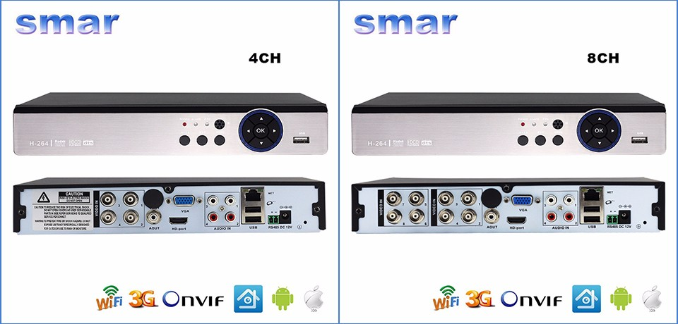 4 Channel 8 Channel 3MP AHD DVR