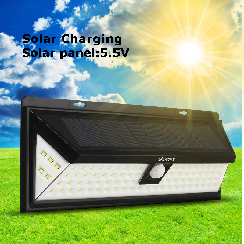 Mising Motion Sensor 86 LED Solar Light Outdoor Solar Powered LED Garden Light Waterproof Emergency Wall Lamp ...