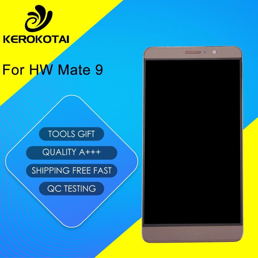 For HW Mate 9 100% Tested Good Quality LCD Display Touch Screen Digitizer Full Assembly HW Mate 9 LCD Assembly With Frame