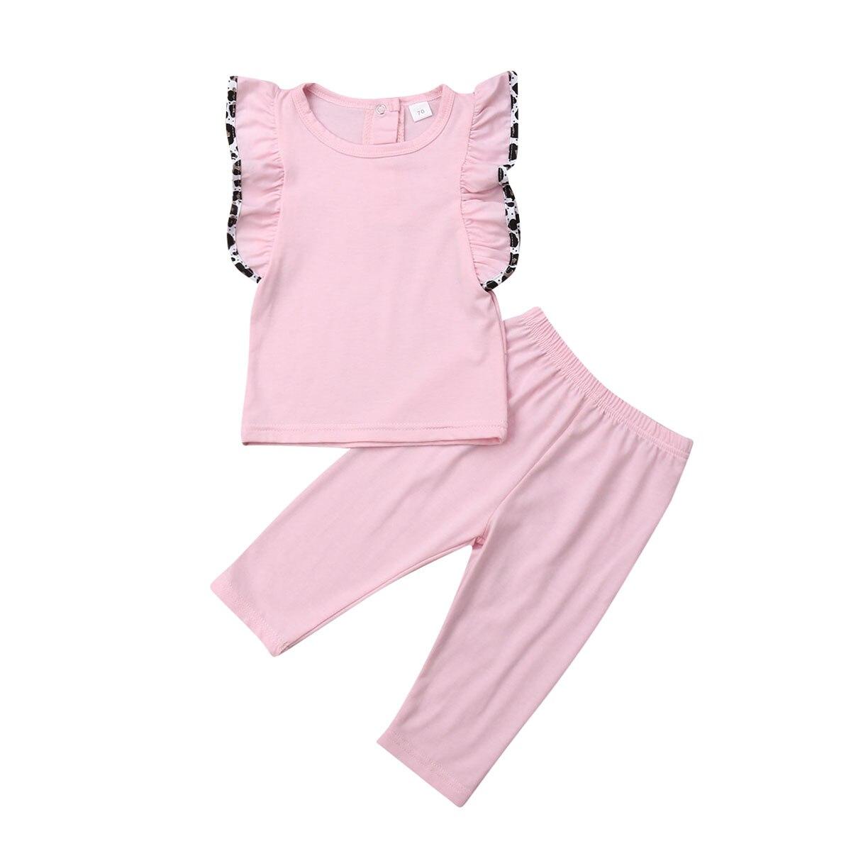 0-24 M Nette Neugeborene Baby Mädchen Rüschen Ärmellose Weste Tops Lange Hose Legging 2 Pcs Outfits Baby Mädchen Kleidung Set Bestellungen Sind Willkommen.