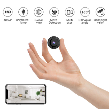 Universal Mangetic Absorption WIFI Mini Remote Monitor Camera Wide Angle HD 1080P Motion Detect IR Night Vision H.264 Security