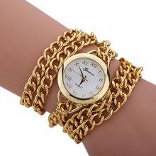 Vogue Design Informal gold watch ladies luxurious Stainless Metal quartz Wrist watch ladies watches relogio feminino