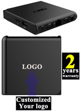 10pcs T95X Custom Made Amlogic S905X Quad core Smart Android6.0 LIVE TV Streaming Box 2GB 16GB MediaHub 1200+ live tv 1000+ VOD