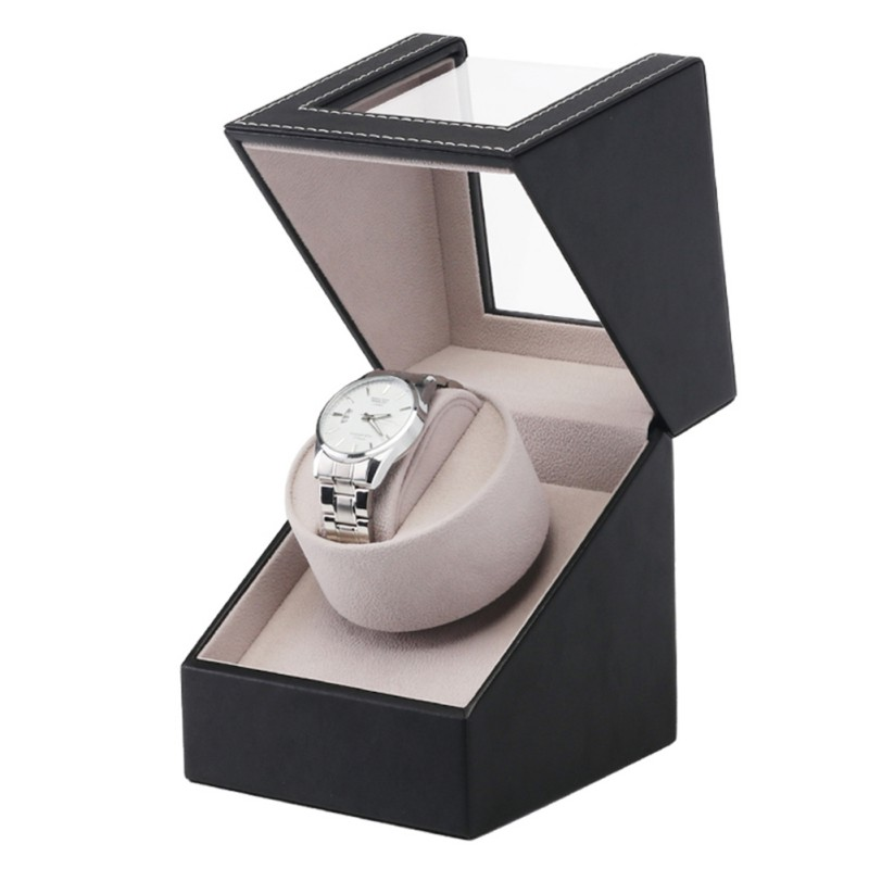 Image 4 - Watch Winder Box PU Leather Adjustable Pillow Anti static Silent Self Winding Automatic Mechanical  Storage Container for Gifts