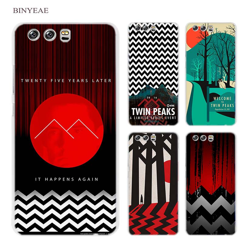 BINYEAE Welcome Twin Peaks Hard Transparent Case Cover Coque for Huawei P8 P9 P10 Lite 2017 Plus P7