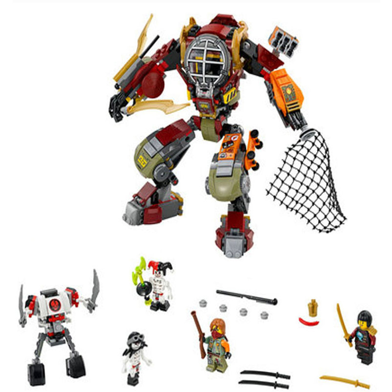 Ninjago Salvage M.E.C.Ronin Krazi Frakjaw Ninjago Building Blocks sets figure Bricks Toys Compatible With lepin building bricks lepin 02012 city deepwater exploration vessel 60095 building blocks policeman toys children compatible with lego gift kid sets