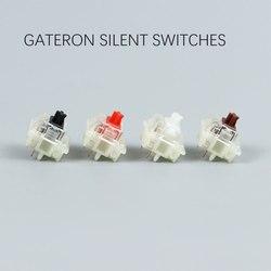 Gateron cichy przełącznik czarny czerwony przezroczysty 5pin przezroczyste bluzki do klawiatury mechaniacl kompatybilny z przełącznikiem MX gateron black gateron redswitch gateron -