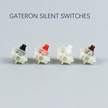 Gateron cichy przełącznik czarny czerwony przezroczysty 5pin przezroczyste bluzki do klawiatury mechaniacl kompatybilny z przełącznikiem MX