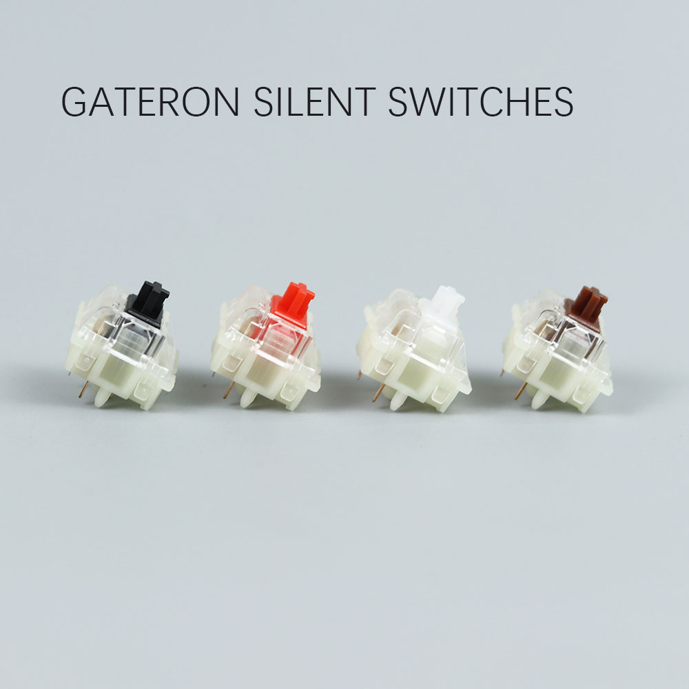 Gateron silent switch Black Red clear 5pin transparent tops for mechaniacl keyboard Compatible with MX switch(China)