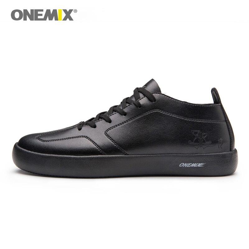 ONEMIX 2019 hommes chaussures de skateboard noir clair baskets Sport en plein air respirant hommes chaussures en plein air marche taille EU39-45