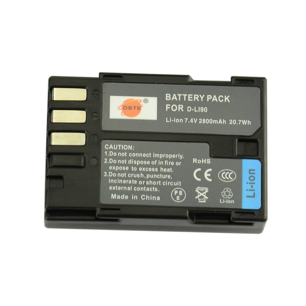 DSTE D-LI90 Ricaricabile Batteria per Pentax K-7 K-7D K-5 K-52 645D K5IIS K5II K01 K3 Fotocamera DigitaleDSTE D-LI90 Ricaricabile Batteria per Pentax K-7 K-7D K-5 K-52 645D K5IIS K5II K01 K3 Fotocamera Digitale