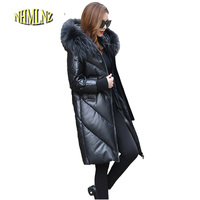 Hooded Genuine Leather Jacket 2017 New Fashion High Quality Comfortable Down Leather Jacket Winter Large Size