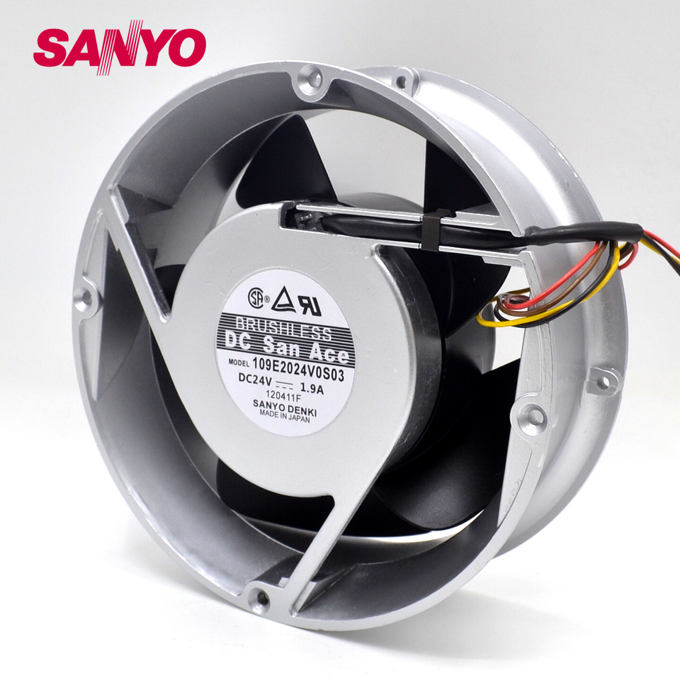 200*200*70MM 4 wire 109E2024V0S03 20070 24V 1.9A Gale aluminum box cooling fan for
