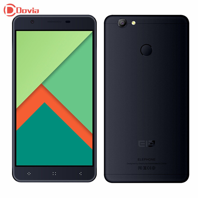 Elephone C1X 4G Smartphone Android 6.0 5.5 inch MTK6737 Quad Core 2GB RAM 16GB ROM Fingerprint Scanner 8MP Camera 2500mAh Phone
