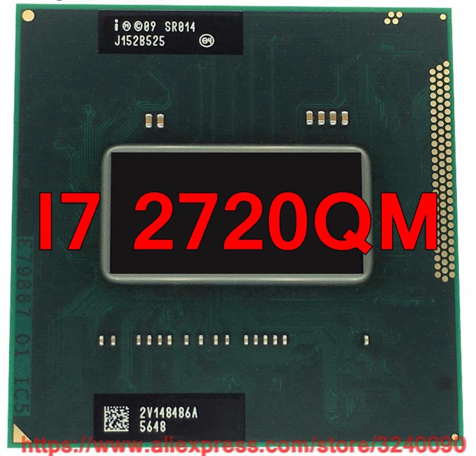 Original lntel Core I7 2720QM SR014 CPU 6M Cache 2 2GHz 3 3GHz Quad Core i7