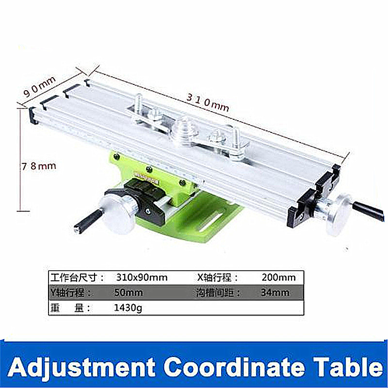 US $23 75 5% OFF|The platform is equipped with mini micro multi function  milling machine Bench drill Vise Fixture worktable X Y axis adjustment-in