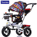 2017 Folding and Shockproof Baby Tricycle Multifunctional Children Three Wheeled Cart with Pneumatic Wheel and Sunshade WW0027