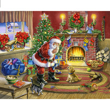 Full Square/Round Drill 5D DIY Diamond Painting Christmas Santa Claus 3D Embroidery Cross Stitch  Decor