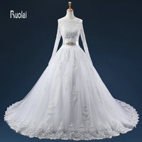 2016 New Arrival Lace Applique Tulle Ball Gown Sweetheart With Jacket Formal Wedding Dresses Sweep Train