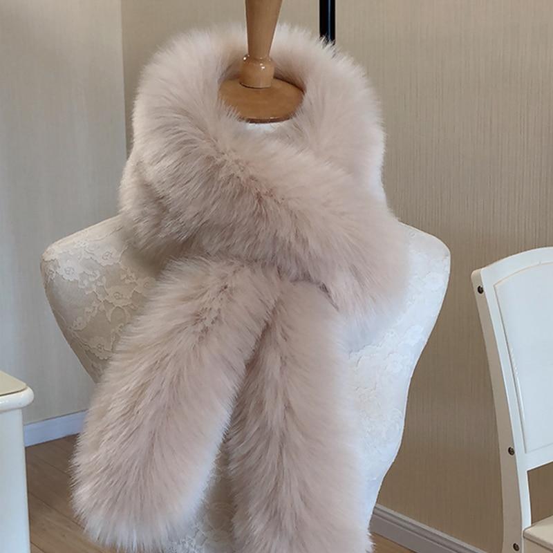 2017 fashion faux mink fur   scarf   7 colors women warm short fur collar scarfs imitation fur   wraps   neck warmer winter accessories