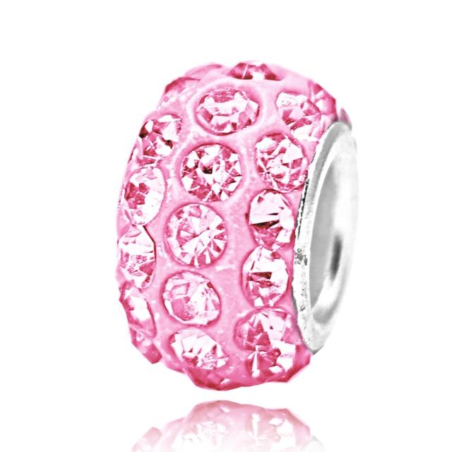 4 шт/лот leabyl европейские и американские розовые кристаллы