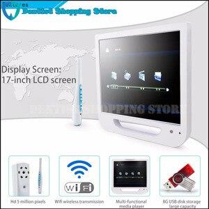 Image 2 - 17 дюймовый монитор USB/Wifi, стоматологическая фотокамера, эндоскоп, 6 светодиодных камер, стоматологическая камера