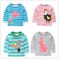 Vidmid 1-6 años del bebé de la camiseta camiseta de las muchachas niños camisetas de la marca infantil blusa para las niñas niños ropa chaquetas largas manga