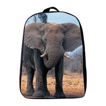 Cool Oxford 12 Inches Printing Animal Elephant Baby Girls Bookbag Kindergarten School Bags Mini Infantile Backpack for Children(China)