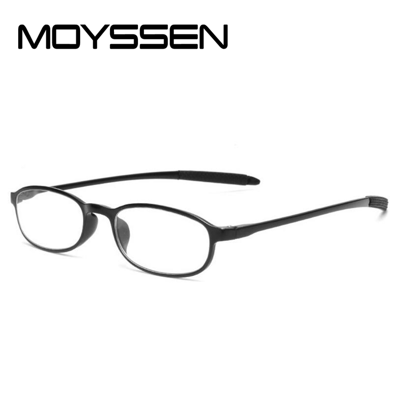 e542c30180 Moyssen Fashion Women Ultra light Flexible TR90 Frame Reading Glasses  Red Black Brown Men s Small Presbyopia Eyewear for Elders-in Reading Glasses  from ...