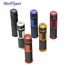 MoFlyeer Universal Motorcycle 7/8  22mm Handle Bar Grips Solid Color Aluminum Alloy CNC Handlebar Grip