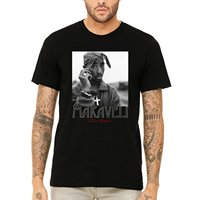 Makaveli 2pac Shakur Autografo in Bianco e Nero T-Shirt Tee T Shirt O-Collo Estate Personalità Moda Uomo T-Shirt