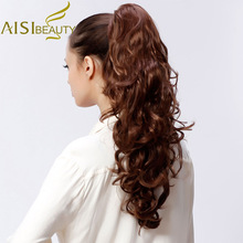 AISI BEAUTY 29″ 200g High Temperature Fiber Hairpieces Long Wavy Synthetic Claw Clip Ponytail Hair Extensions for Women